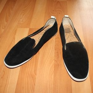 Dolce Vita Black Velvet Slip-on Loafers Shoe US 10